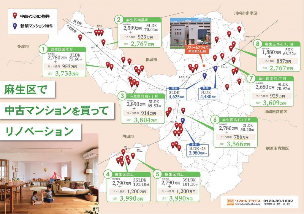 【新築マンション・中古マンション分布図】