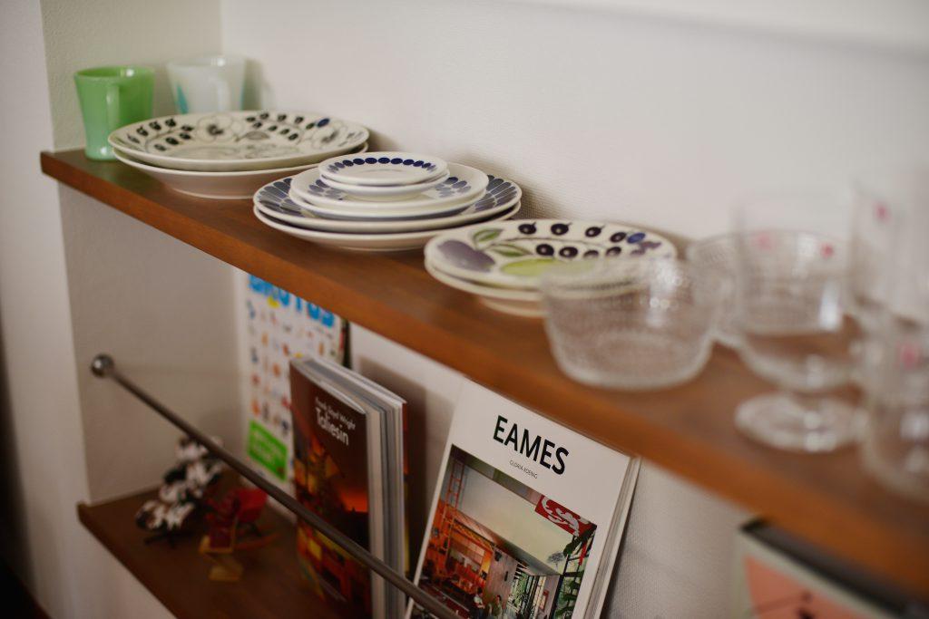 ギャラリー:キッチンカウンター下のニッチ。