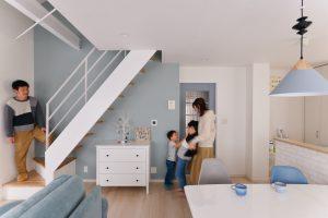 築30年戸建リノベ | 見通しの良いリビング ~空間を繋げて子どもの成長を見守るリビングに~