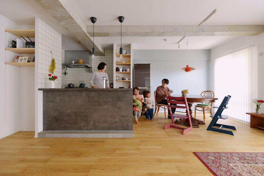 築23年マンションリノベ   子どもの成長に合わせて、柔軟に変化できる家