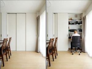 築56年マンションリノベ | お気に入りのワークスペース。想いの詰まった家具とともに